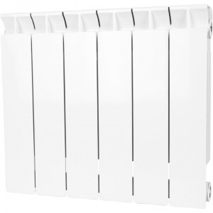 Радиатор биметаллический STOUT STYLE 350-6 секций (RAL 9010)