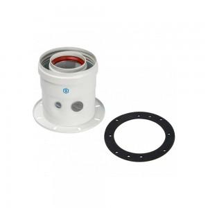 Адаптер вертикальный дымохода 60/100 мм для котла Buderus / Bosch.