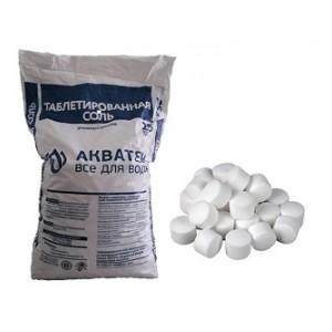 Соль таблетированная 25 кг для водоочистки Акватек.