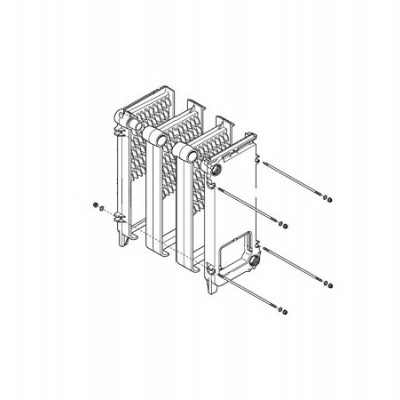 JJJ 3616870 Основной теплообменник для котлов Baxi SLIM 1.230