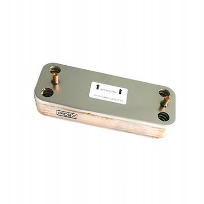 39842130 Теплообменник пластинчатый 10 пластин для котлов Ferroli (аналоги 37405871, 37405870)