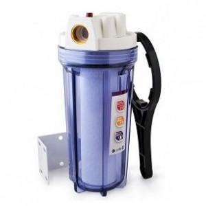 """Колба - фильтр грубой очистки воды 1"""" (катридж, кронштейн, ключ)."""