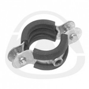 Хомут KAN одиночный с резиновым вкладышем-двухстороннее соединение винтами с метрической резьбой 75