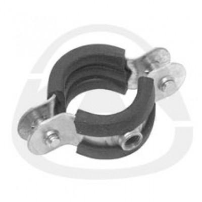 Хомут KAN одиночный с резиновым вкладышем-двухстороннее соединение винтами с метрической резьбой 90