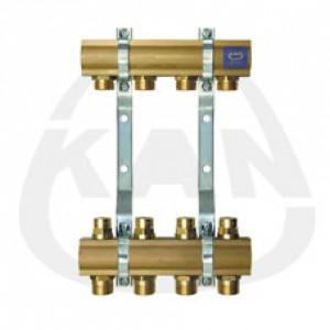 Коллекторная группа KAN с профилем 1 для напольного отопления с регулирующими вентилями на обратке (серия 51 А) 6