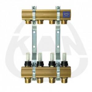 Коллекторная группа KAN с профилем 1 для напольного отопления с расходомерами (серия 55 А) 4