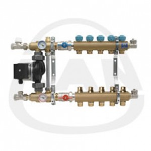 Коллекторная группа KAN с профилем 1 для напольного отопления со смесительной системой (серия 73 А) 4