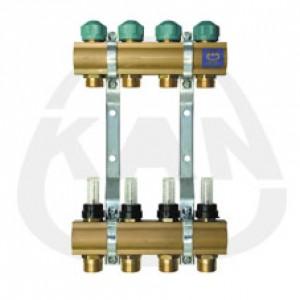 Коллекторная группа KAN с профилем 1 для напольного отопления с вентилями для сервоприводов и расходомерами (серия 75 А) 7