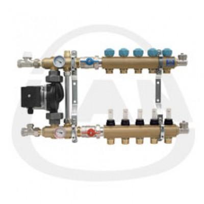 Коллекторная группа KAN с профилем 1 для напольного отопления со смесительной системой и расходомерами (серия 77 А) 10