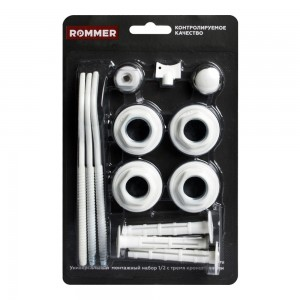 Монтажный комплект Rommer 1/2 c 3-мя кронштейнами
