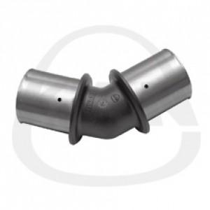Отвод  KAN 45 градусов PPSU Press с пресс-кольцом 32x3/32x3