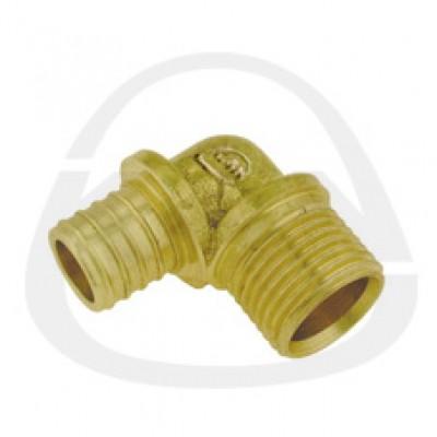 Отвод KAN латунный Push с резьбой наружной 14x2/15 Cu-G1/2