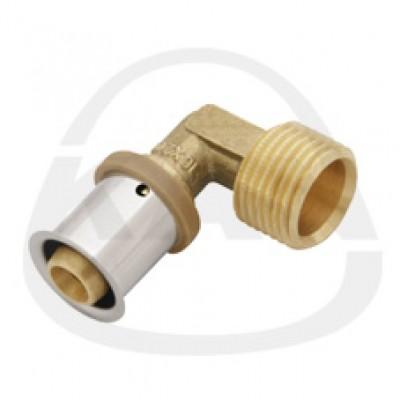 Отвод KAN Press с пресс-кольцом с наружной резьбой 25x2,5/G1