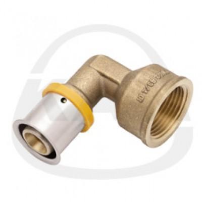 Отвод KAN Press с пресс-кольцом с внутренней резьбой 25x2,5/G3/4
