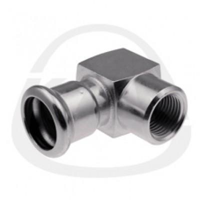 Отвод KAN с внутренней резьбой press-короткий 35xRp1/2