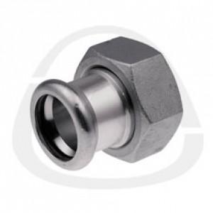 Соединитель KAN press с накидной гайкой c плоским уплотнением 35xG1 1/2