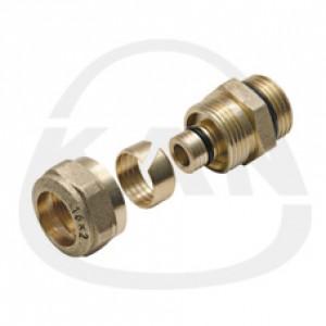 Соединитель KAN с наружной резьбой  для многослойных труб Системы KAN-therm 16x2G3/4