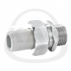 Соединитель KAN с металлическим ниппелем с уплотнительной прокладкой 20x1/2