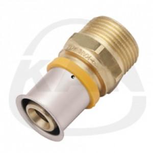 Соединитель KAN Press с пресс-кольцом с наружной резьбой 25x2,5 G1/2