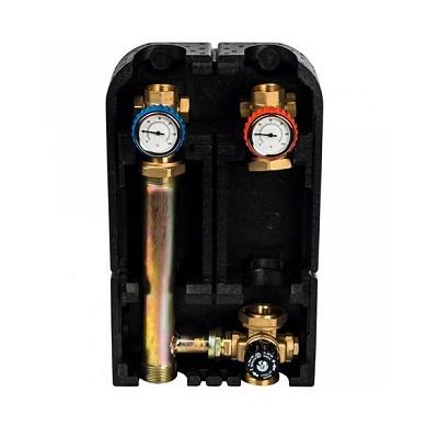 """Насосная группа Stout с термостатическим смесительным клапаном 1"""" (без насоса) в теплоизоляции"""