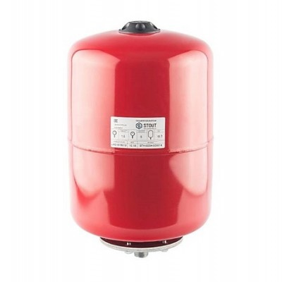 Бак расширительный STOUT на отопление 18л, красный