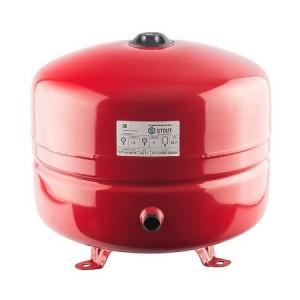 Бак расширительный STOUT на отопление 35л, красный