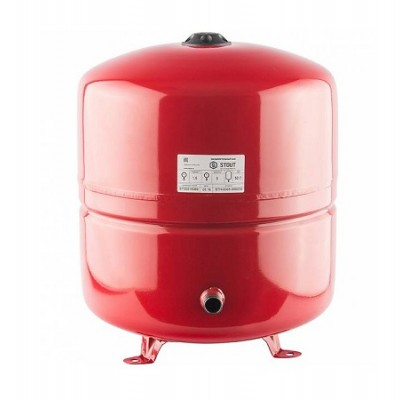 Бак расширительный STOUT на отопление 50л, красный.