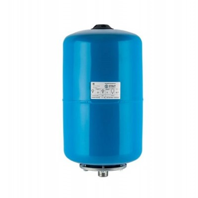 Бак расширительный (гидроаккумулятор) STOUT для водоснабжения 20л, горизонтальный, синий