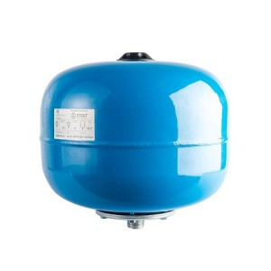 Бак расширительный (гидроаккумулятор) STOUT для водоснабжения 24л, вертикальный, синий