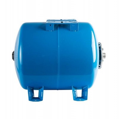 Бак расширительный (гидроаккумулятор) STOUT для водоснабжения 50л, горизонтальный, синий