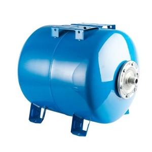 Бак расширительный (гидроаккумулятор) STOUT для водоснабжения 80л, горизонтальный, синий
