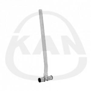 Тройник KAN Press с трубкой  Cu 15, никелированный, L=300 мм 16x2/16x2